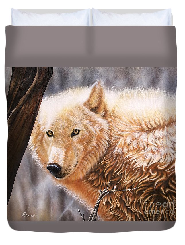 Acrylic Duvet Cover featuring the painting The Daystar II by Sandi Baker