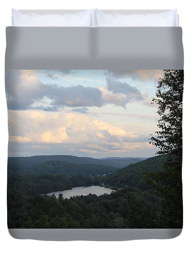 Landscape Duvet Cover featuring the photograph The Distant Hills Of Vermont by Sam Teitelbaum