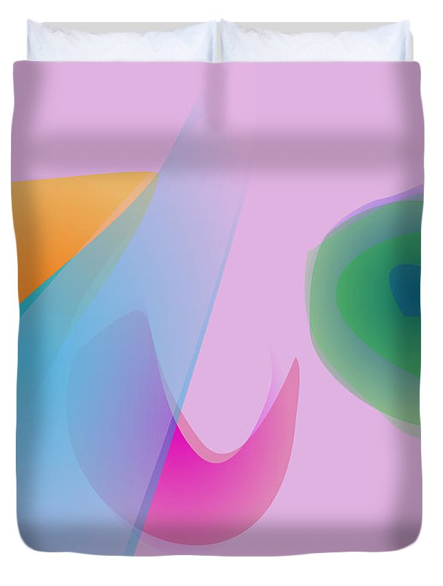 Distinctive Duvet Cover featuring the digital art The Distinctive Morning Light by Masaaki Kimura