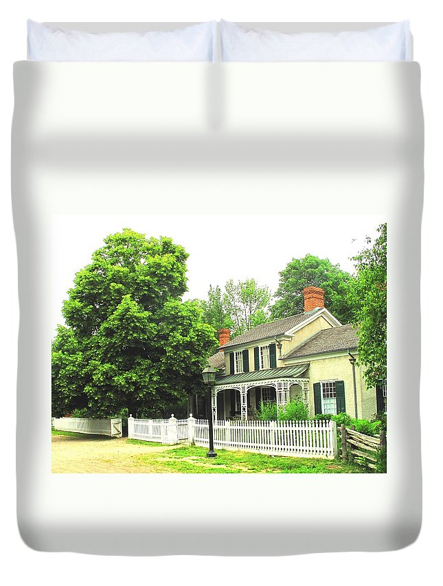 Doctor Duvet Cover featuring the photograph The Doctors House by Ian MacDonald
