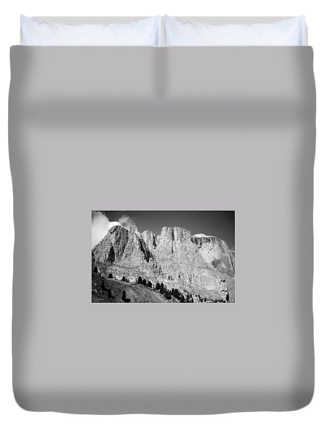 Europe Duvet Cover featuring the photograph The Dolomites by Juergen Weiss