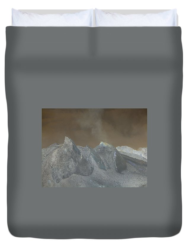 Dome Duvet Cover featuring the photograph The Dome Of Mt St Helens by Jeff Swan