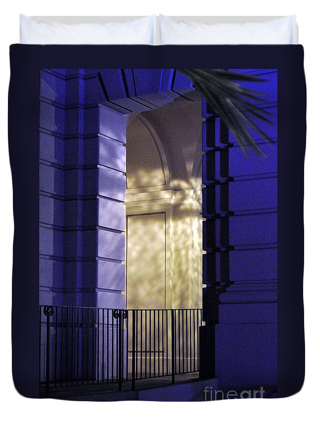 Clay Duvet Cover featuring the photograph The Door by Clayton Bruster