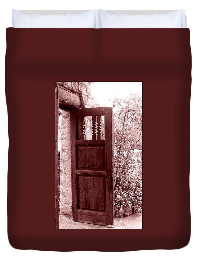 Door Duvet Cover featuring the photograph The Door by Wayne Potrafka