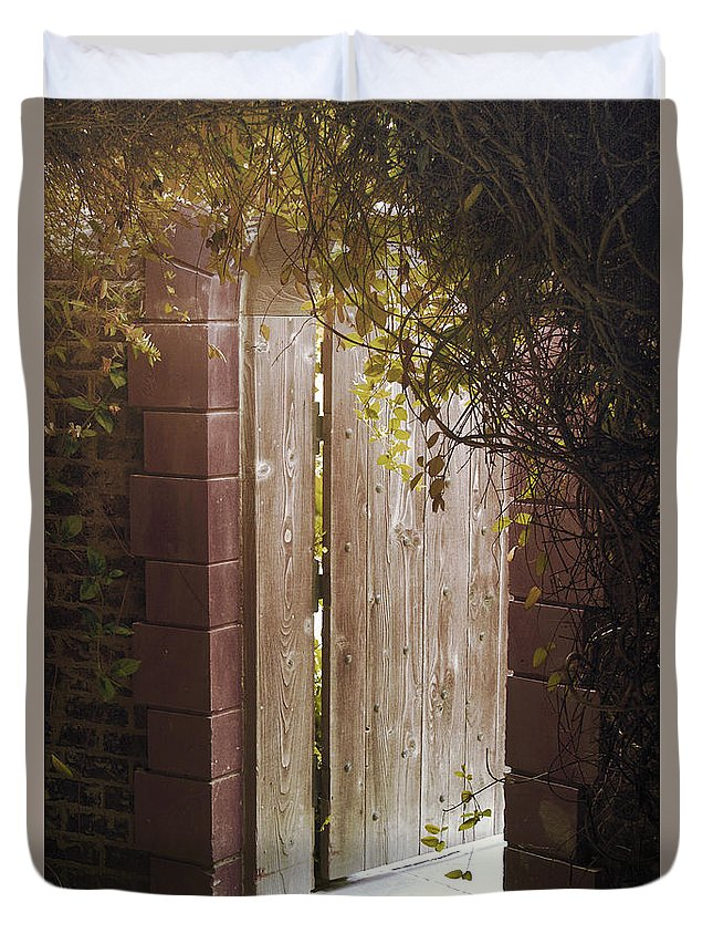 Arch Duvet Cover featuring the photograph The Doorway by Jackie Farnsworth