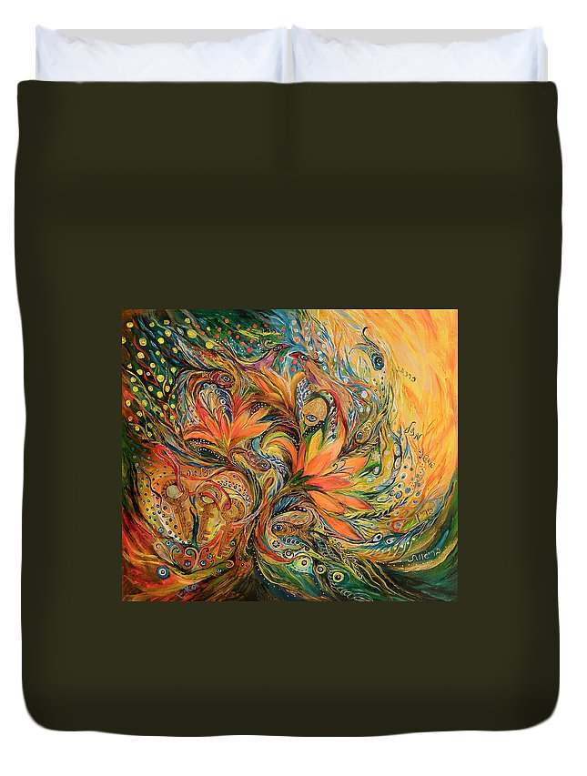 Original Duvet Cover featuring the painting The Dream by Elena Kotliarker