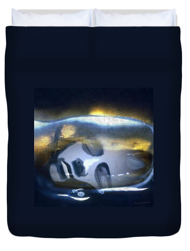 Dream Sky Universe Methaphysics Aura Afterlife Duvet Cover featuring the digital art The Dream by Veronica Jackson
