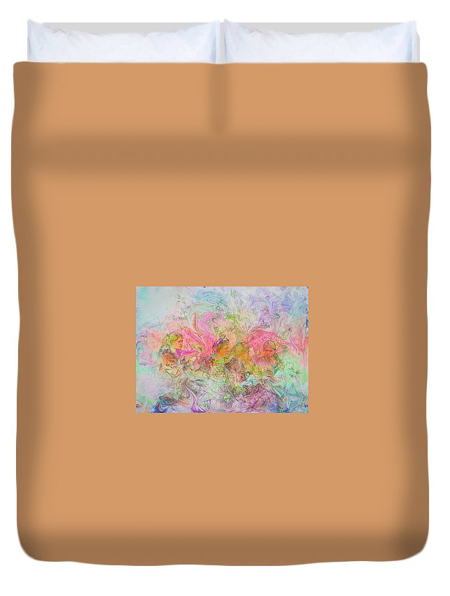 Digital Art Duvet Cover featuring the digital art The Dreamers by Philip Lodwick Wilkinson