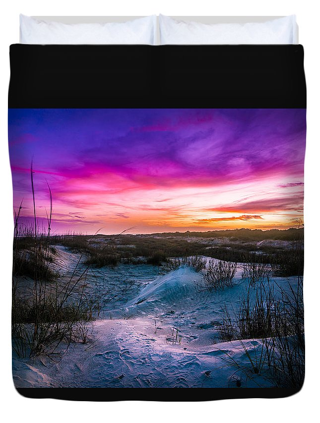 Duvet Cover featuring the photograph The Dunes On St Simons Island by John Krivec