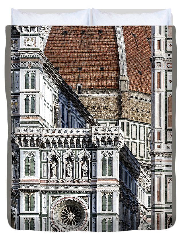 Basilica Duvet Cover featuring the photograph The Duomo Detail by John Greim