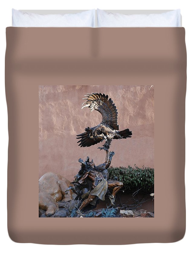 Eagle Duvet Cover featuring the photograph The Eagle And The Indian by Rob Hans