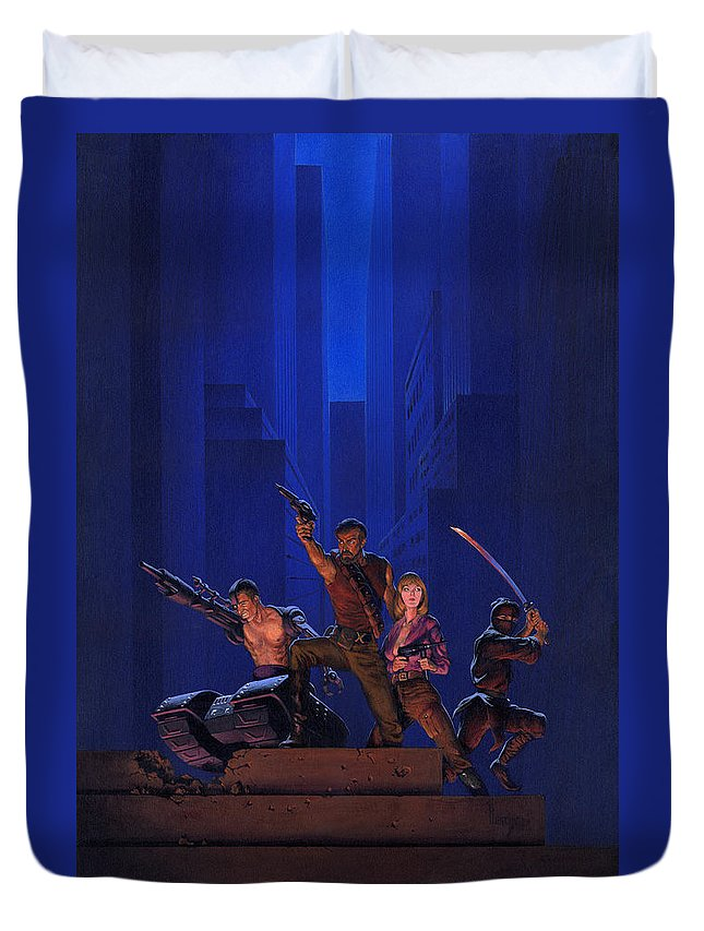 Science Fiction Paintings Duvet Covers