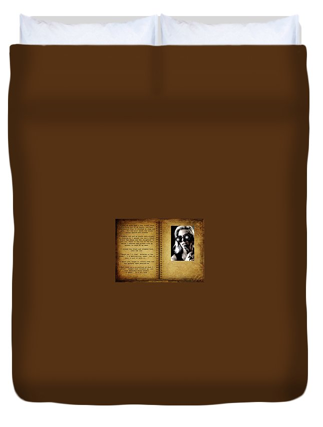 Manscript Duvet Cover featuring the photograph The End Of A Book by Bill Munster