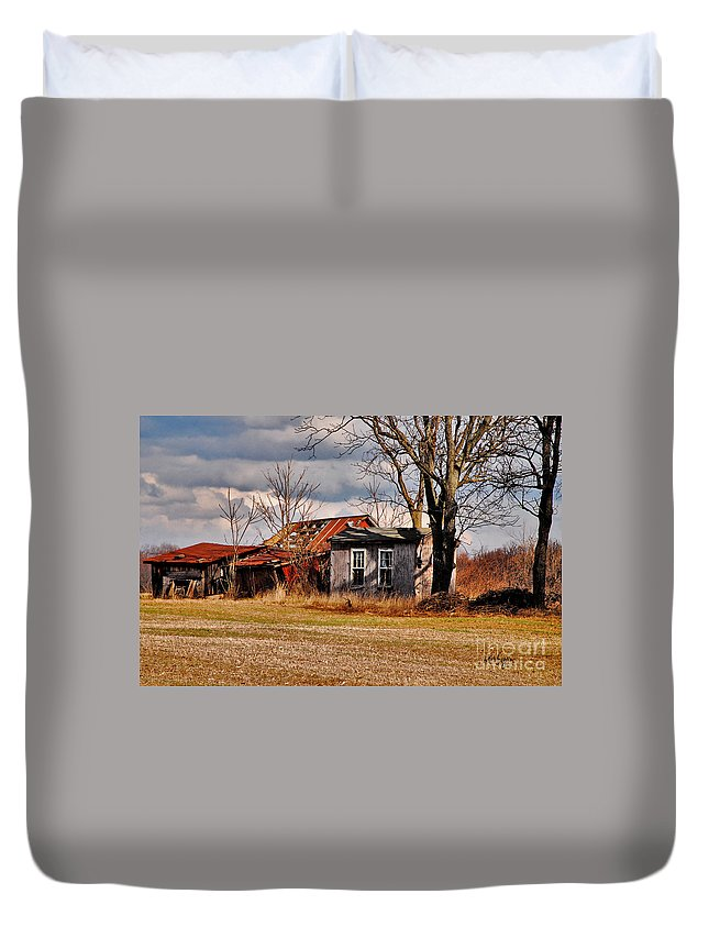 Landscape Duvet Cover featuring the photograph The End Of Days by Lois Bryan