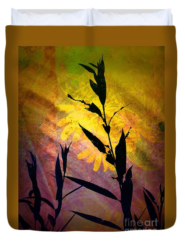 Silhouette Duvet Cover featuring the photograph The End Of Summer by Tara Turner