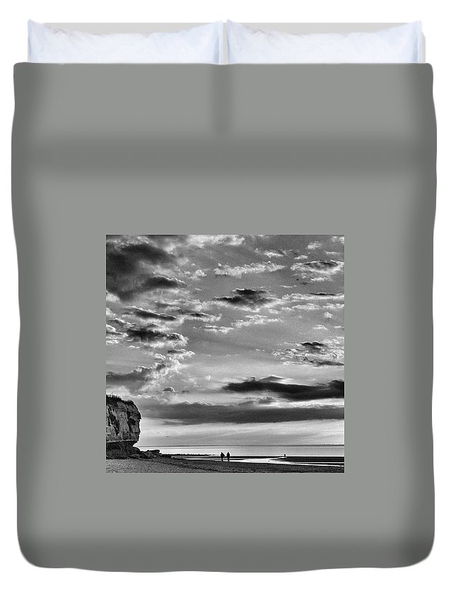 Natureonly Duvet Cover featuring the photograph The End Of The Day, Old Hunstanton by John Edwards