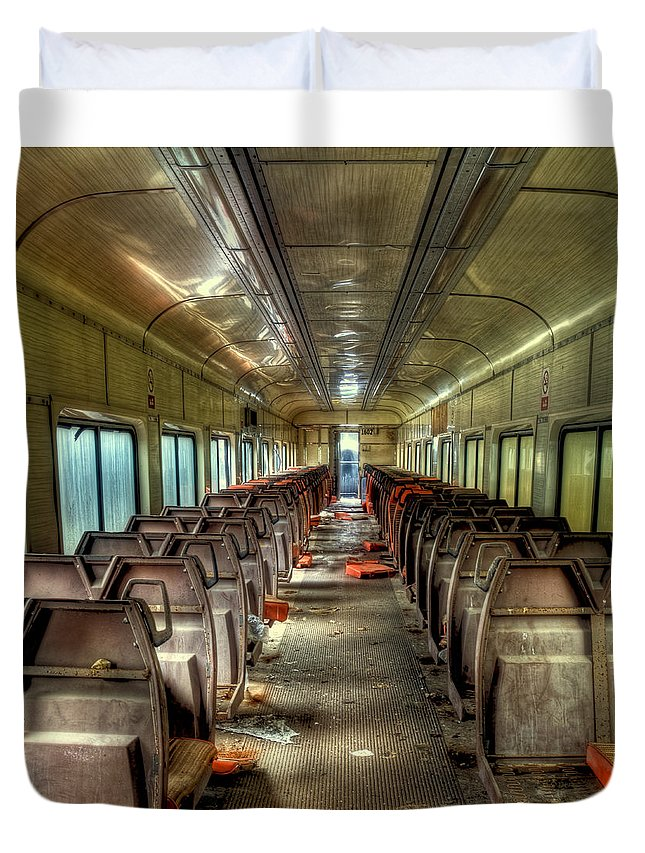 The End Of The Line Duvet Cover featuring the photograph The End Of The Line by David Patterson
