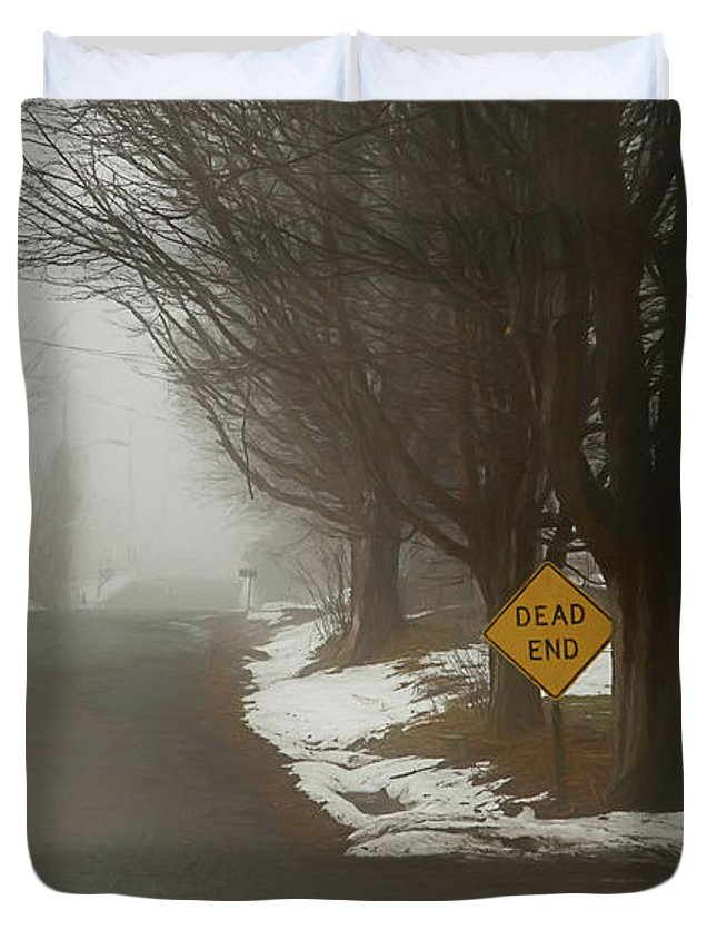 Winter Duvet Cover featuring the digital art The End Of Winter by Karl Fritz