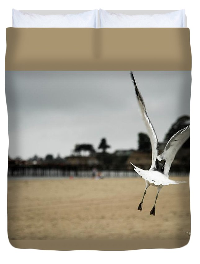 Duvet Cover featuring the photograph The Escape by Wendy Carrington