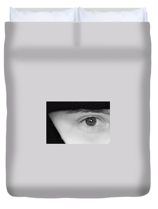 Eyes Duvet Cover featuring the photograph The Eyes Have It by Christine Till