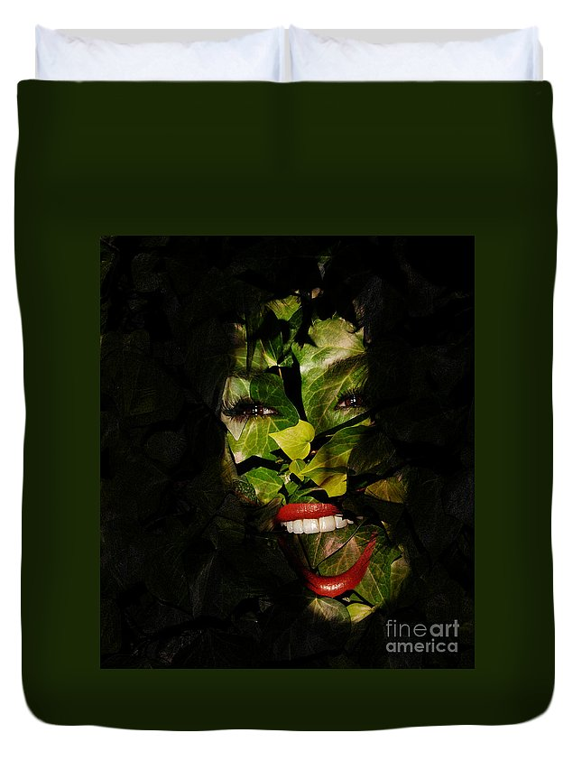 Clay Duvet Cover featuring the photograph The Eyes Of Ivy by Clayton Bruster