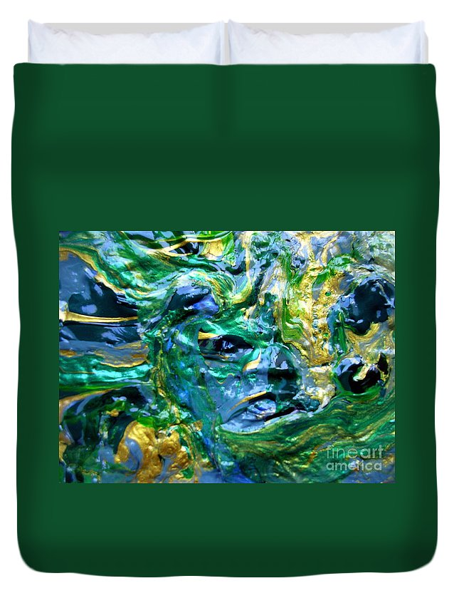 Face Duvet Cover featuring the painting The Face by Dawn Hough Sebaugh