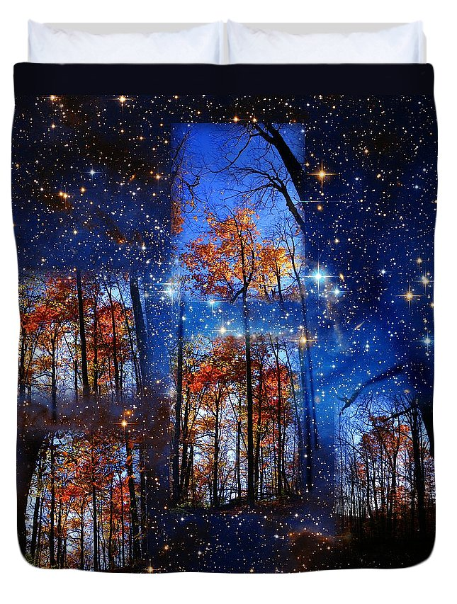 Deep Space Duvet Cover featuring the photograph The Face Of Forever by Dave Martsolf