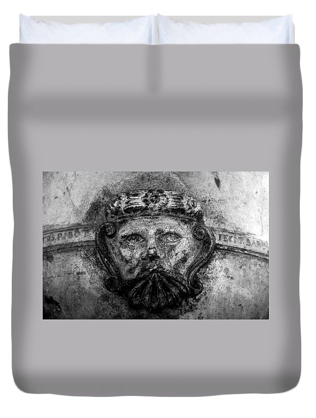 Face Duvet Cover featuring the photograph The Face Of War by David Lee Thompson