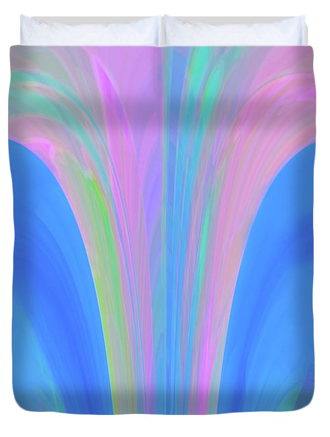 Digital Art Duvet Cover featuring the digital art The Fairytale by Mihaela Stancu