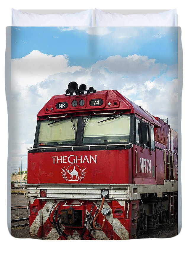 2017 Duvet Cover featuring the photograph The Famed Ghan Train by Andrew Michael