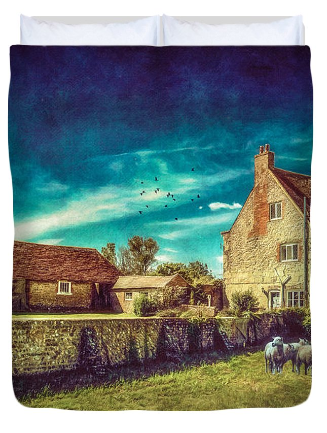 Farm Duvet Cover featuring the photograph The Farm by Chris Lord