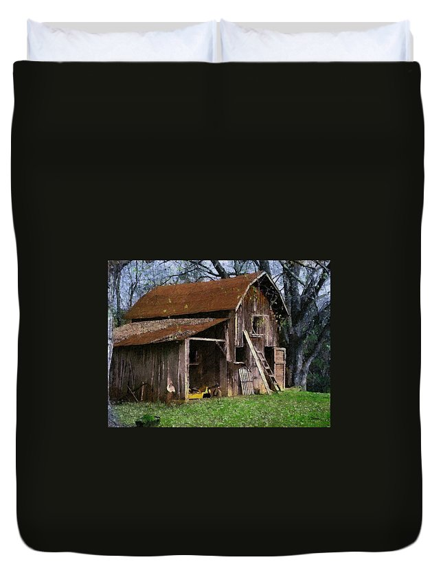 Farm Duvet Cover featuring the painting The Farm by Teresa Mucha