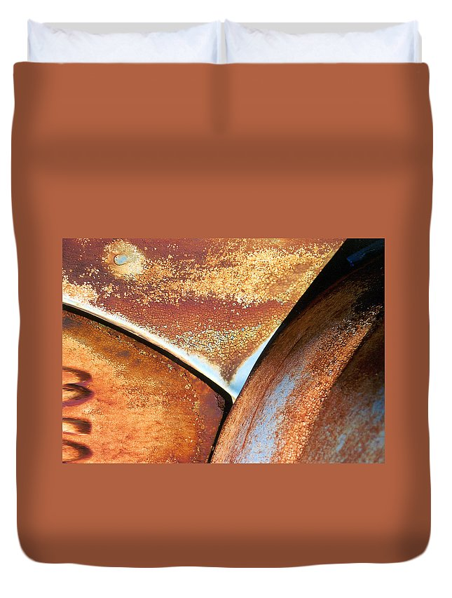 Abstract Duvet Cover featuring the photograph The Feminine Mystique by Steve Karol
