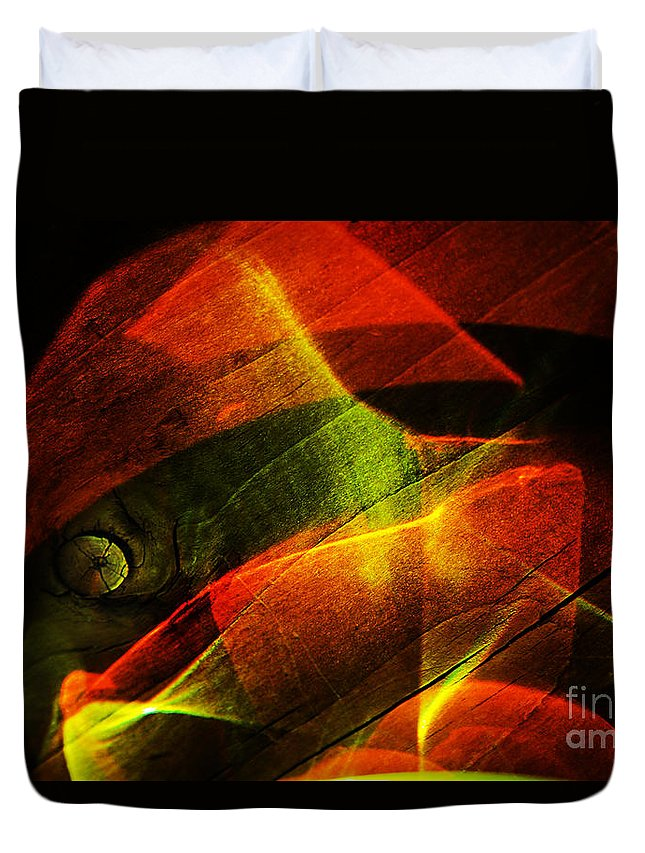 Light Duvet Cover featuring the photograph The Figure In Red Clothes by Elena Lir-Rachkovskaya