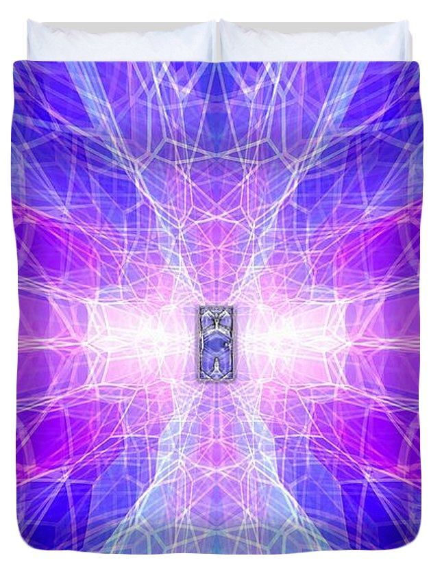 Surrealism Duvet Cover featuring the digital art The Final Door by Mark Sellers