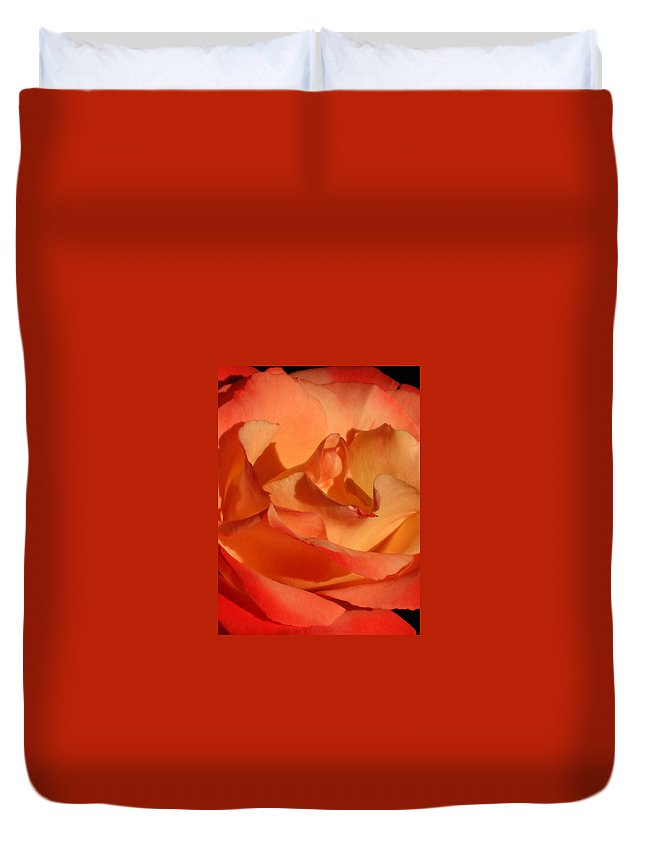 Rose Duvet Cover featuring the photograph The Final Rose Of Summer by Marla McFall