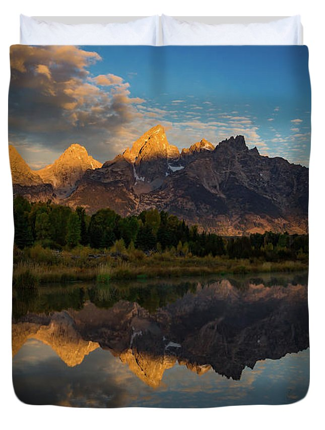 Amaizing Duvet Cover featuring the photograph The First Light by Edgars Erglis