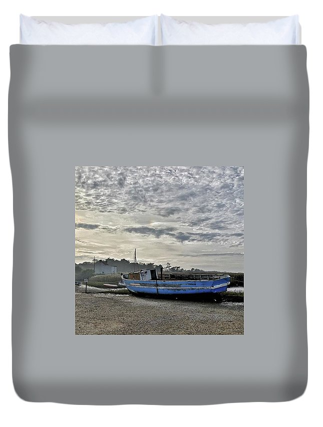 Beautiful Duvet Cover featuring the photograph The Fixer-upper, Brancaster Staithe by John Edwards