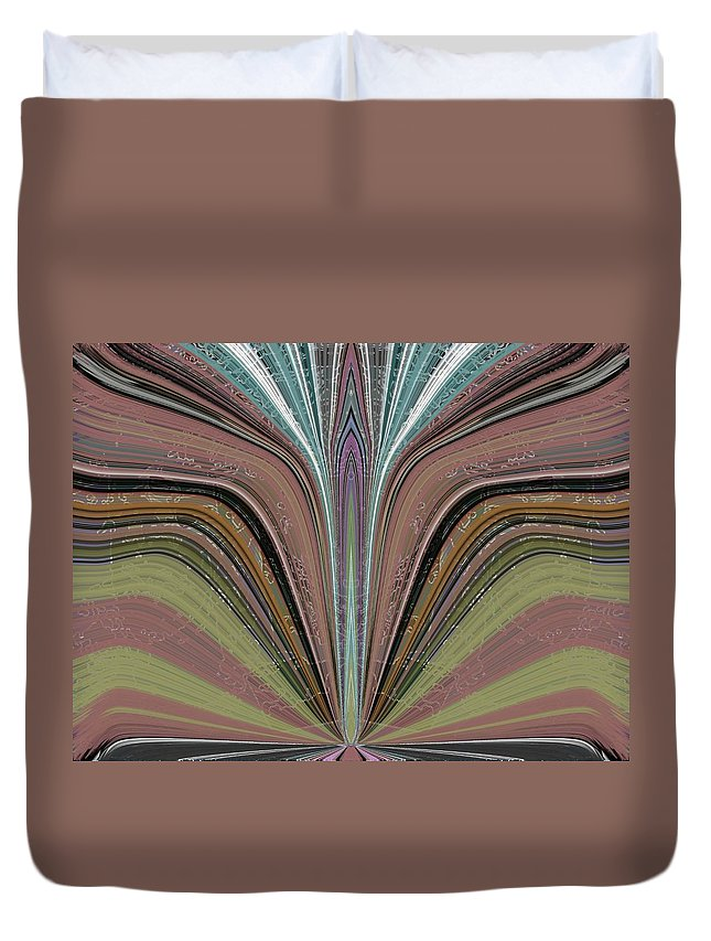 Abstract Duvet Cover featuring the digital art The Flame by Tim Allen