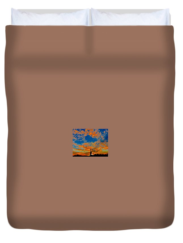 Duvet Cover featuring the photograph The Flavor Of The Sky by Joy Elizabeth