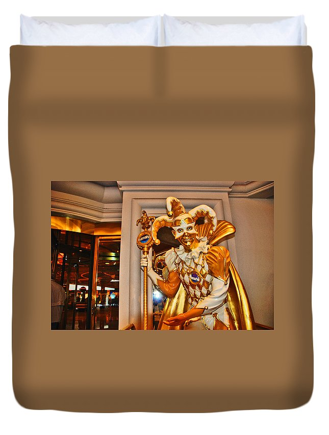 Photography Duvet Cover featuring the photograph The Fool by Susanne Van Hulst