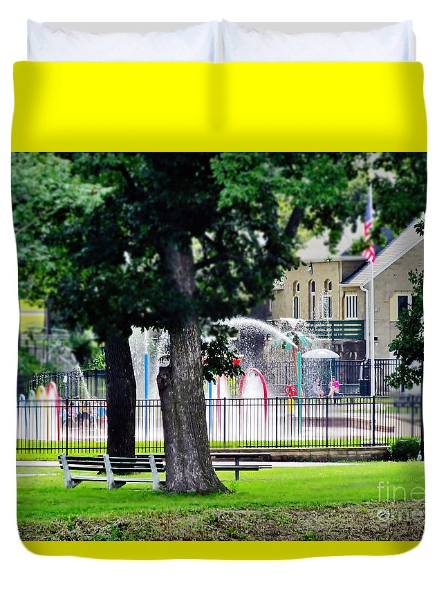 Fountain Duvet Cover featuring the photograph The Fountain For Youth by Don Baker