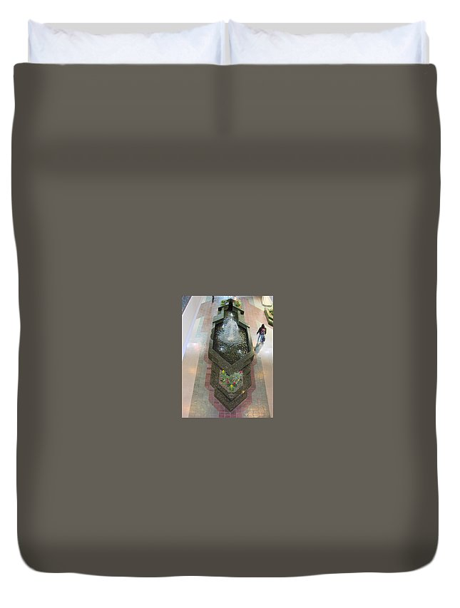 Fountain Duvet Cover featuring the photograph The Fountain by Maro Kentros
