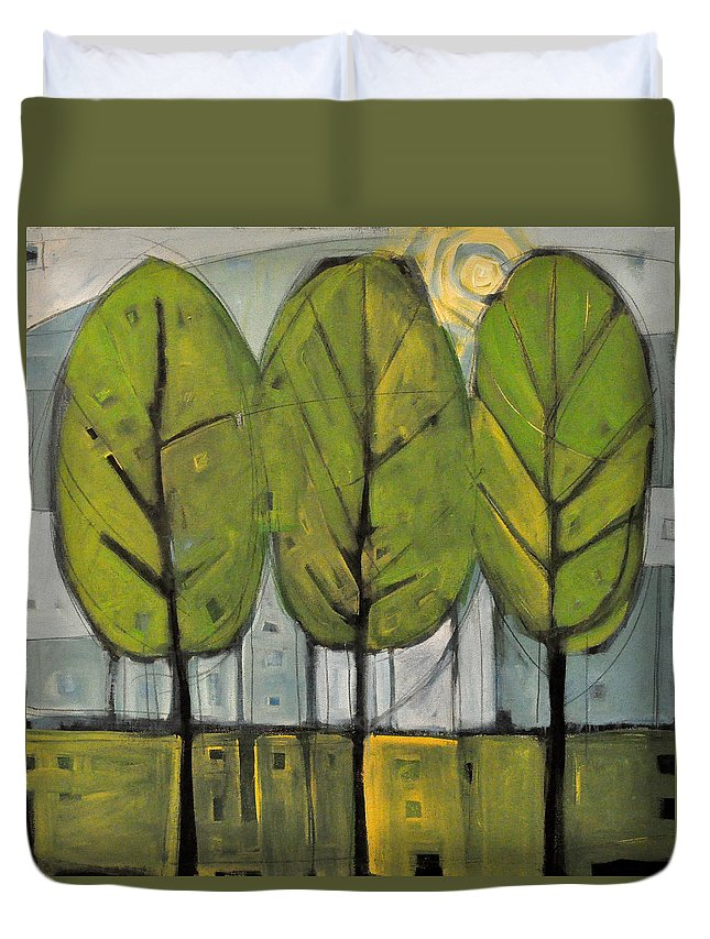 Trees Duvet Cover featuring the painting The Four Seasons - Summer by Tim Nyberg