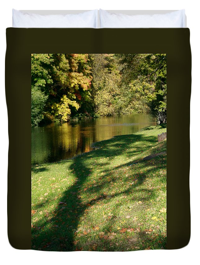 Fall Duvet Cover featuring the photograph The Game Of Shadows by Masha Batkova
