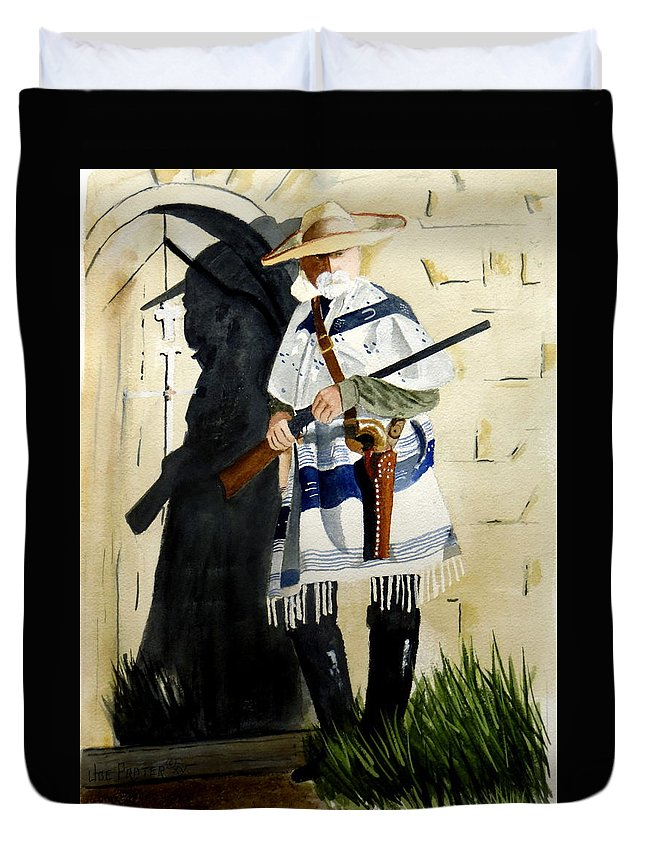 Jail Duvet Cover featuring the painting The Garde by Joe Prater