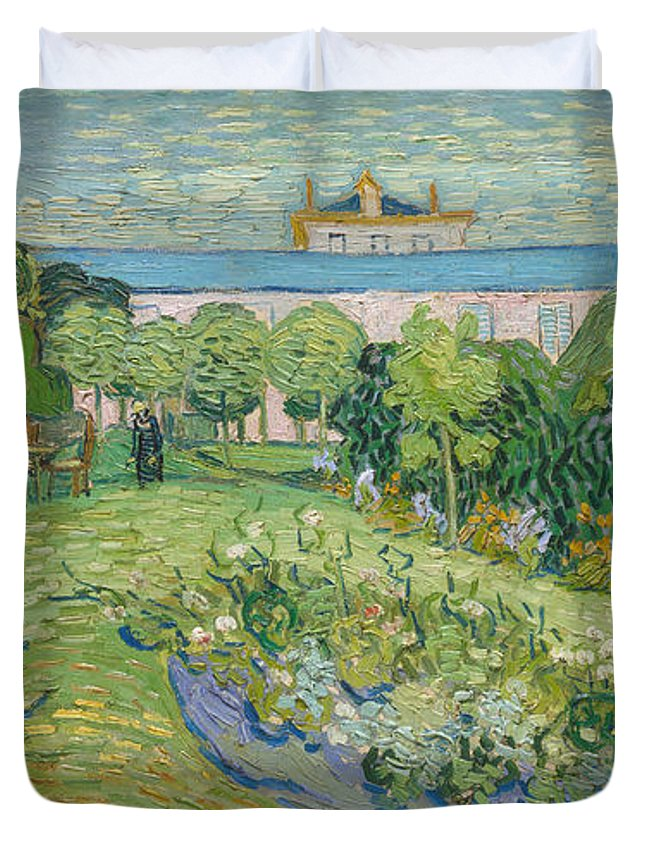Gogh Duvet Cover featuring the painting The Garden Of Daubigny by Vincent van Gogh