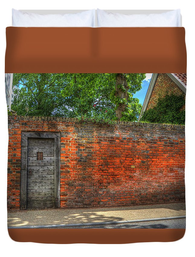 Northgate Duvet Cover featuring the digital art The Gate by Nigel Bangert