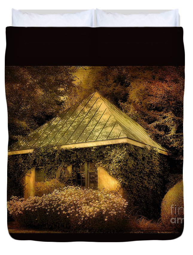 Gatehouse Duvet Cover featuring the photograph The Gatehouse by Lois Bryan