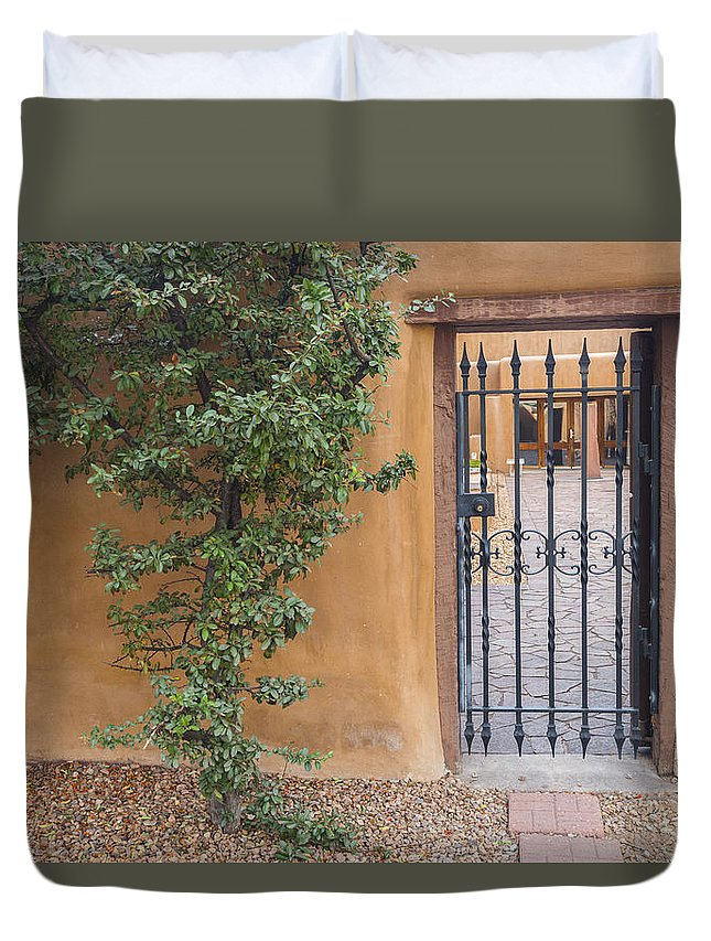 New Mexico Duvet Cover featuring the photograph The Gateway by Gary Lengyel